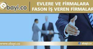 Evlere Fason İş Veren Firmalar